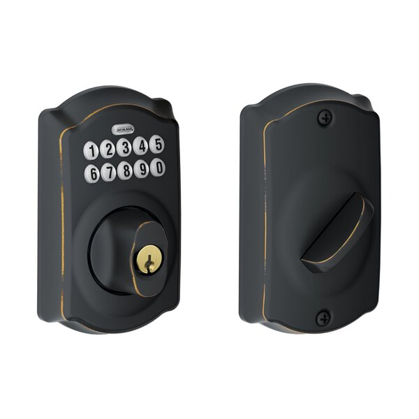 Keypad Deadbolt with Camelot Trim by Schlage