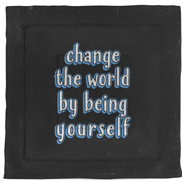 Change The World Quote Single Reversible Comforter