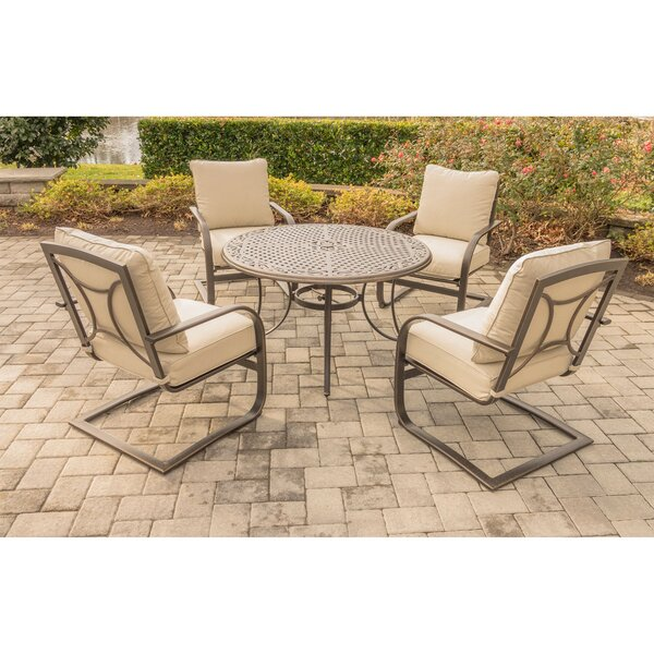 Rhonda 5 Piece Dining Set by Fleur De Lis Living