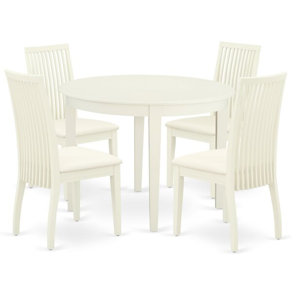 Sagar 5 Piece Solid Wood Breakfast Nook Dining Set by Winston Porter Winston Porter