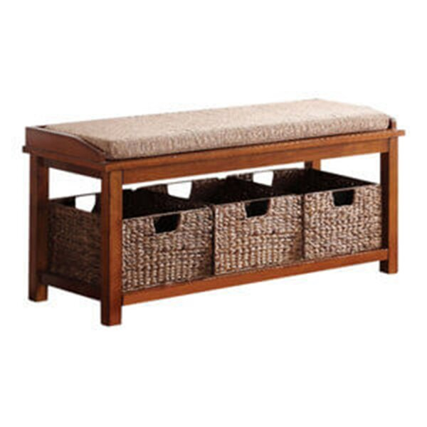 Ackles Upholstered Shelves Storage Bench