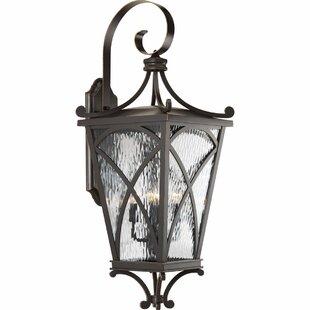 Alexandra 4-Light Outdoor Wall Lantern By Fleur De Lis Living Outdoor Lighting