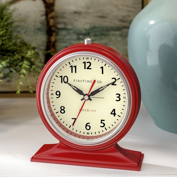 Colorfully Awake Tabletop Clock By Winston Porter.