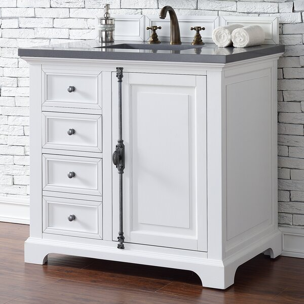 Ogallala Traditional 36 Single Cottage White Bathroom Vanity Set by Greyleigh