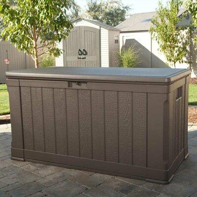 116 gallon plastic deck boxstorage bench