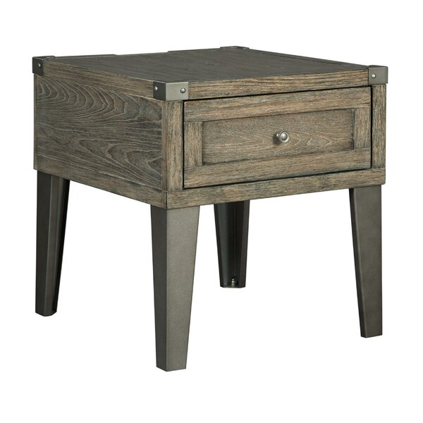 Analia End Table With Storage By Union Rustic