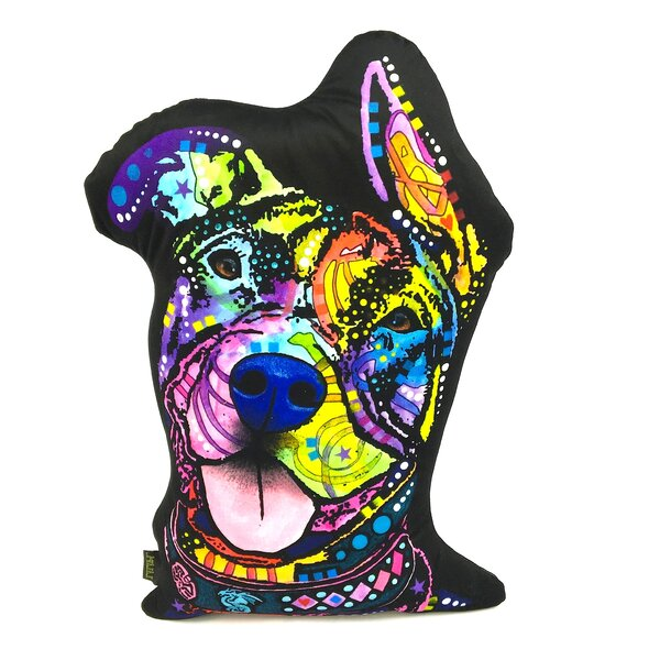 Rescue Dog Shaped Throw Pillow by East Urban Home