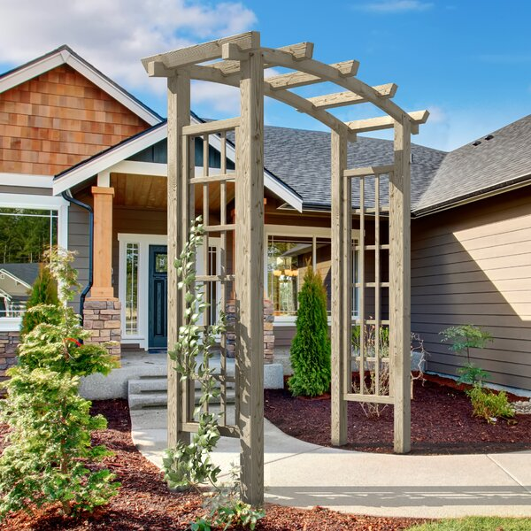 Athena Wood Arbor by European Garden Living