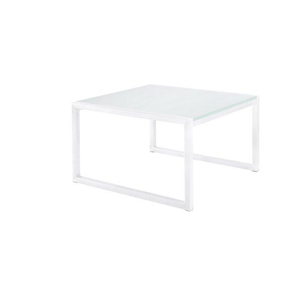 Santistevan Square Aluminum Side Table by Orren Ellis