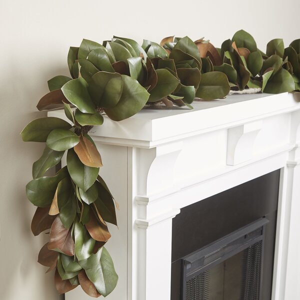 Faux Magnolia Leaf Garland by Birch Lane™