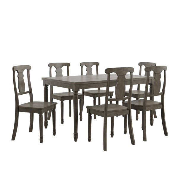 Petrucci Reclaimed Wood 7 Piece Dining Set