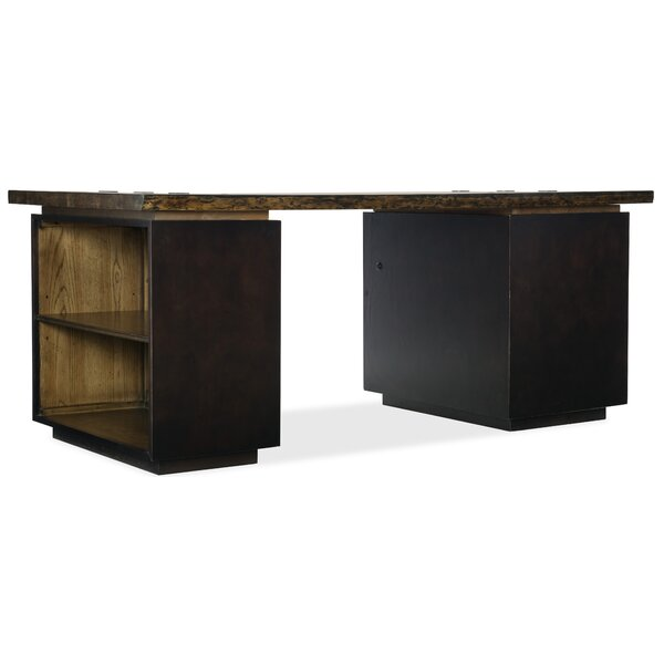 Crafted Pedestal Standard Bookcase By Hooker Furniture