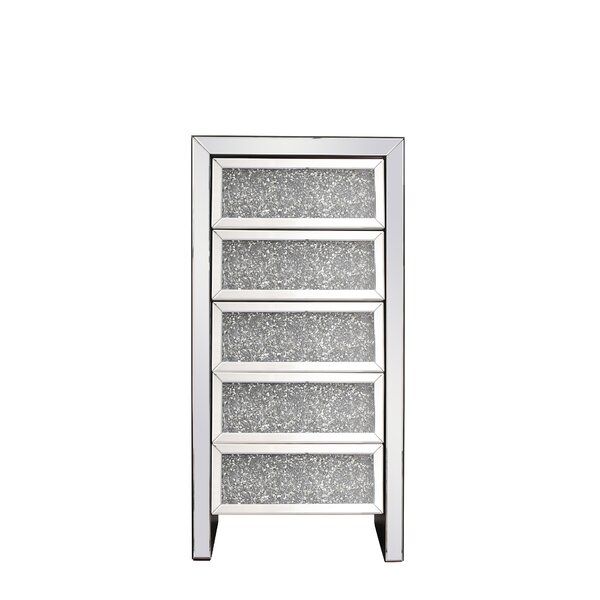 Nathanael Crystal 5 Drawer Accent Chest by Rosdorf Park