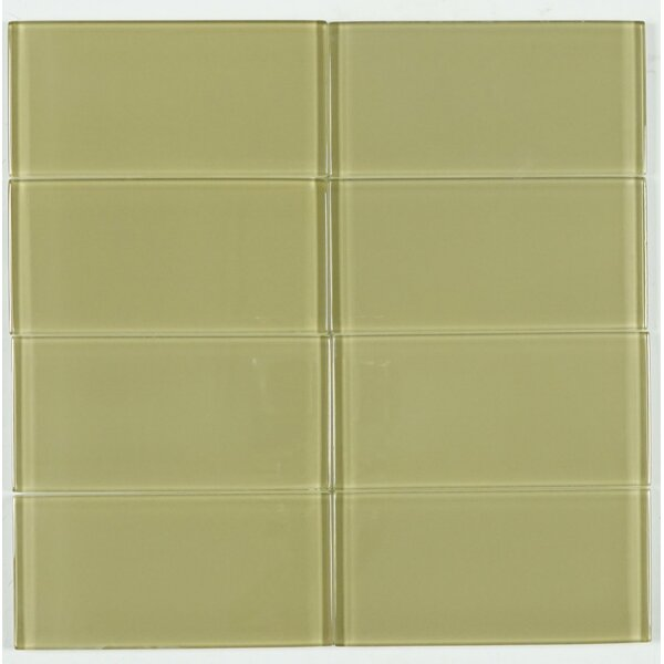 3 x 6 Glass Subway Tile in Light Brown by Multile