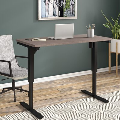"Fridley Standing Desk Brayden Studio Size: 45"" H x 60"" W x 30"" D, Color: Bordeaux"