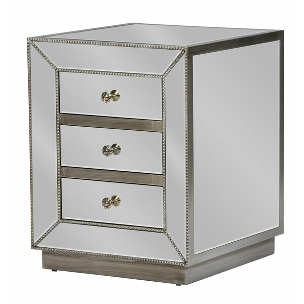 Dycus 3 Drawer Nightstand By Everly Quinn