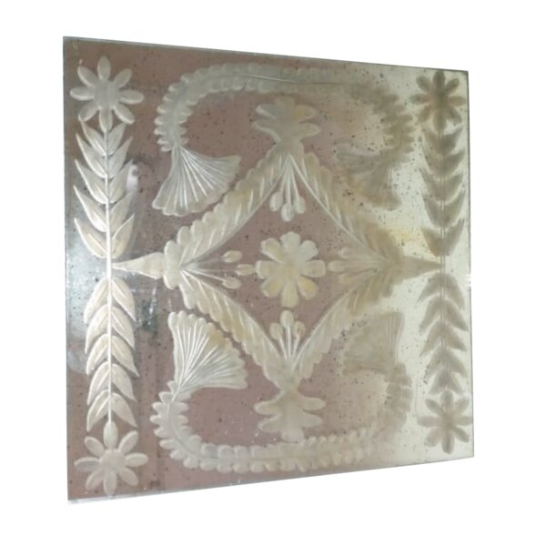 Lessing Square Etched Glass Accent Mirror by Ophelia & Co.