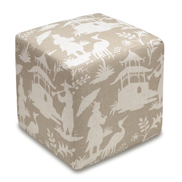Chinoiserie Cube Ottoman by 123 Creations