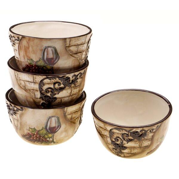 Janet Dessert Bowl (Set of 4) by Fleur De Lis Living