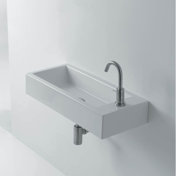 Hox Ceramic 20 Wall Mount Bathroom Sink by WS Bath Collections