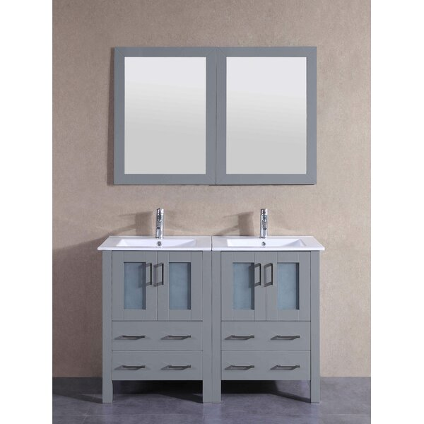 Andora 49 Double Bathroom Vanity Set with Mirror by Bosconi