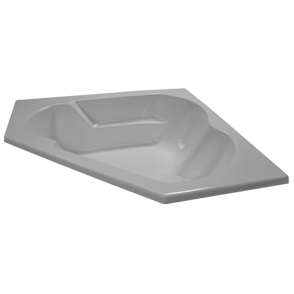 60 x 60 Soaker Arm-Rest Corner Bathtub by American Acrylic