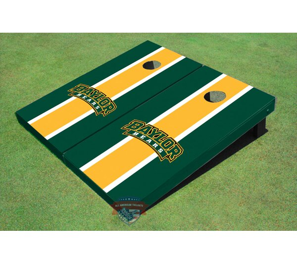 NCAA Matching Long Stripe Cornhole Board (Set of 2) by All American Tailgate