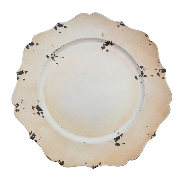 Postma Rustic Scalloped Edge Charger Plate (Set of 4) by August Grove