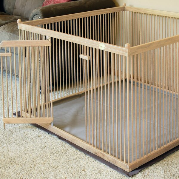 24 Red Oak Pet Exercise Pen by Pupperton