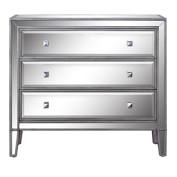 Richwood 3 Drawer Mirrored Accent Chest by Mercer41 Mercer41