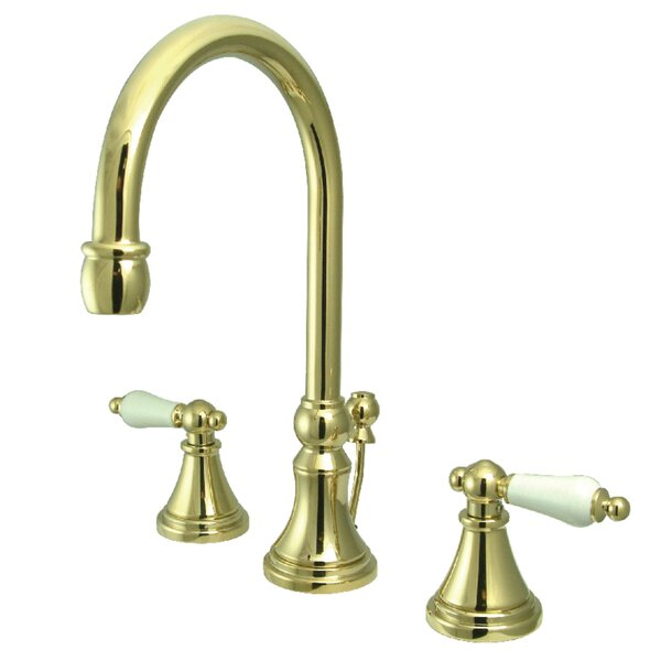 Governor Widespread Bathroom Faucet with Brass Pop-Up Drain by Kingston Brass Kingston Brass