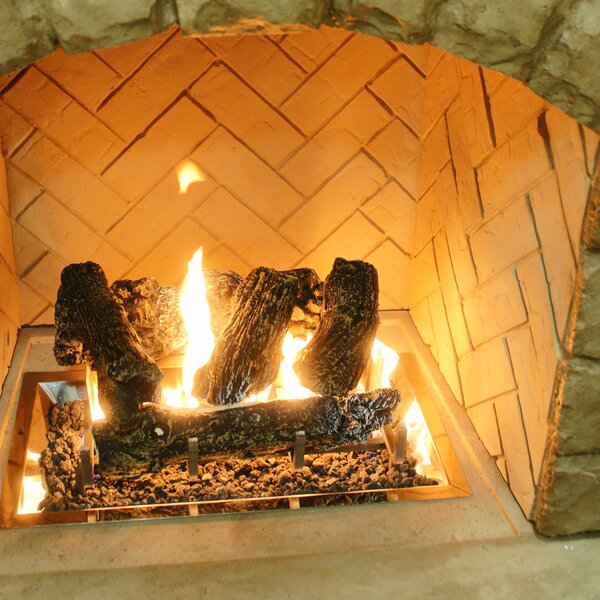 Log Set And Grate for Outdoor Fireplace by The Outdoor GreatRoom Company
