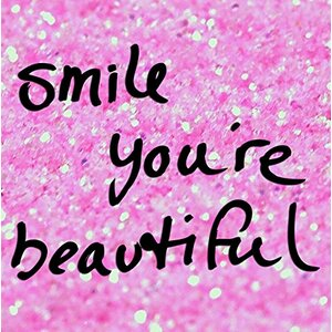 We Agree 'Smile You're Beautiful' Graphic Art on Wrapped Canvas by Buy Art For Less