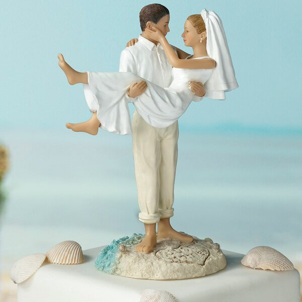 Caucasian Beach Wedding Cake Topper by Lillian Rose