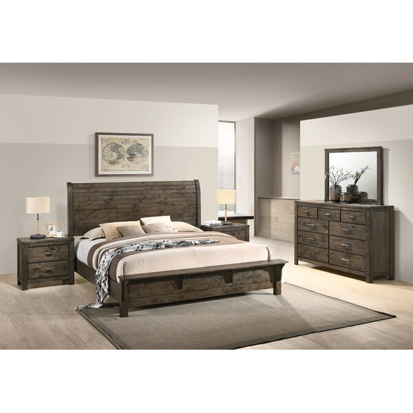 Shockley Sleigh Standard 4 Piece Bedroom Set by Union Rustic