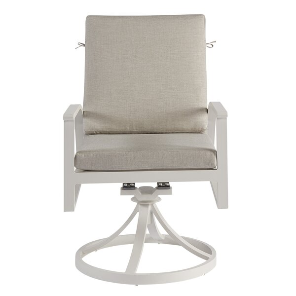 Dani Swivel Patio Dining Chair with Cushion (Set of 2) by Highland Dunes