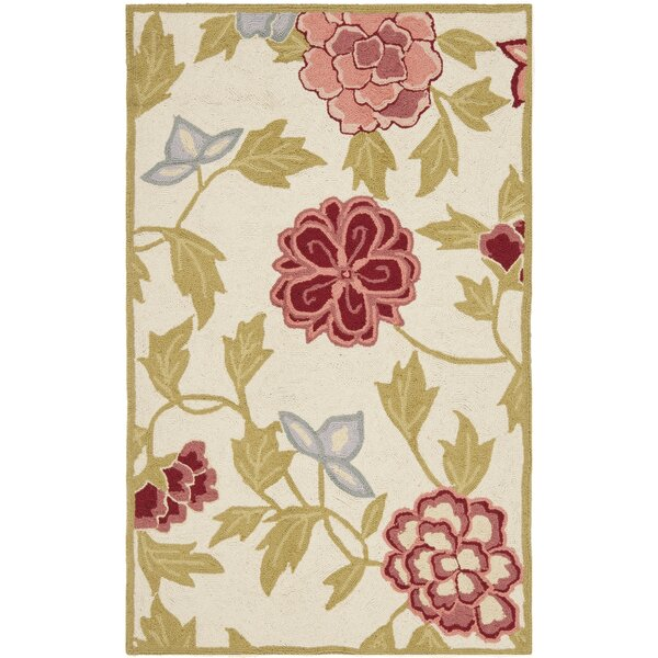 Kinchen Ivory/Green Area Rug by August Grove