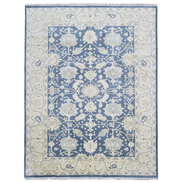 Mitchel Classic Rectangle Hand Woven Wool Blue/Beige Area Rug by Darby Home Co