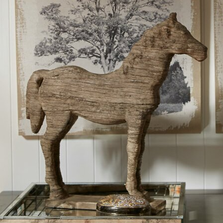 Wesley Horse Table Decor Statue by Three Posts