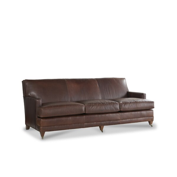 Maxfield Leather Sofa by Joe Ruggiero Collection