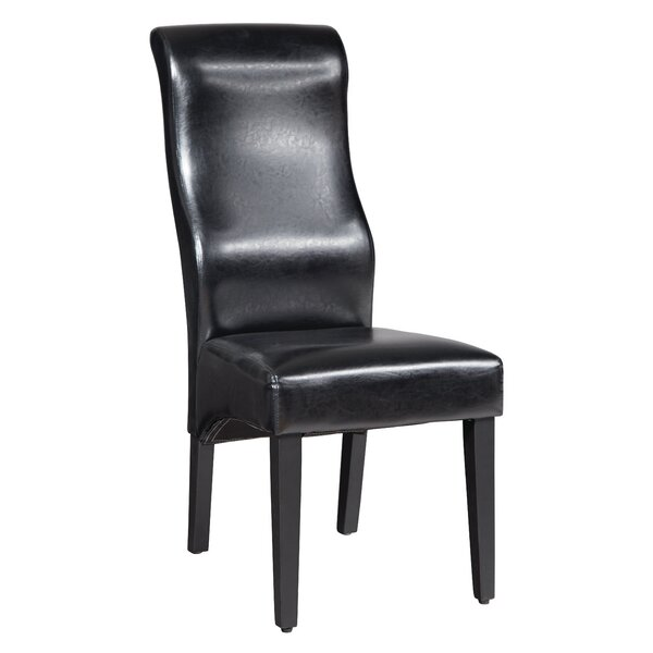 Euclid Solid Wood Upholstered Dining Chair by Latitude Run
