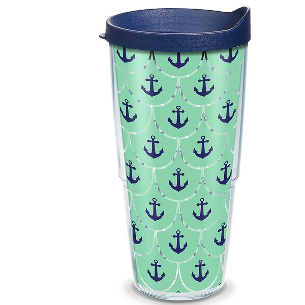 Sun and Surf Anchors Scallop 24 oz. Plastic Travel Tumbler by Tervis Tumbler