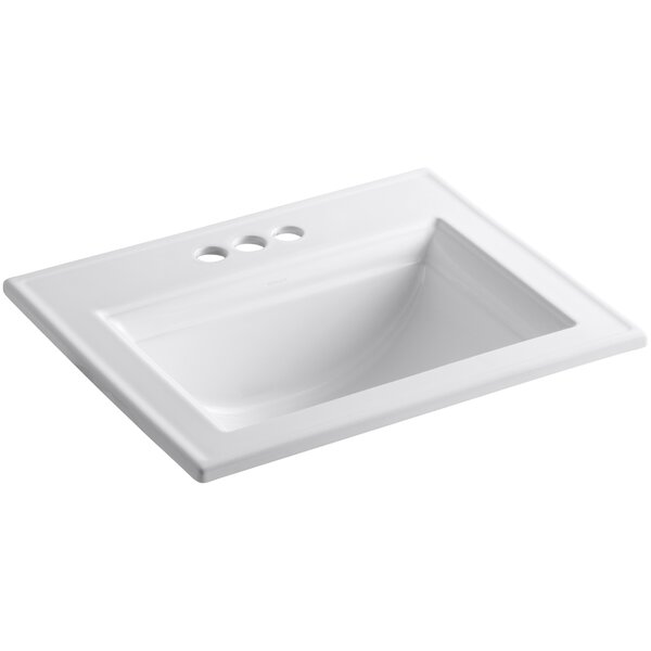 Memoirs® Ceramic Rectangular Drop-In Bathroom Sink with Overflow by Kohler