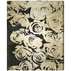 'Dark Rose' Painting Print on Wrapped Canvas by Oliver Gal