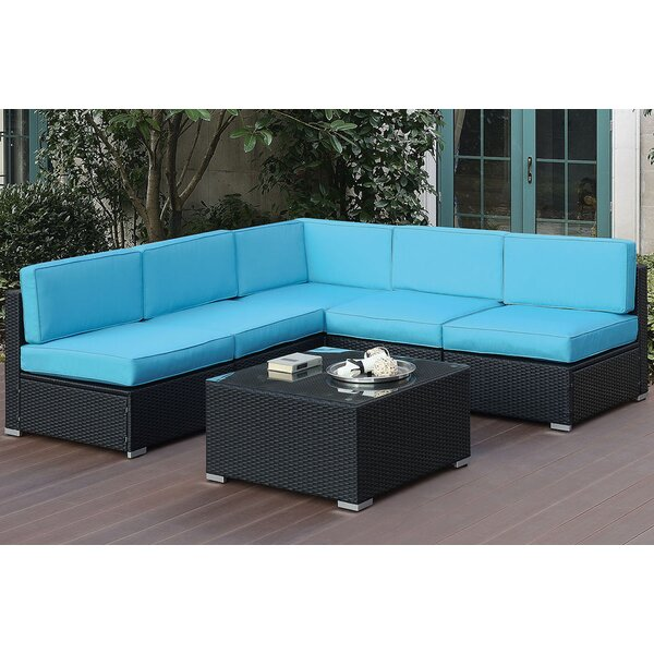 Gallaher 6 Piece Sectional Seating Group with Cushions by Highland Dunes Highland Dunes