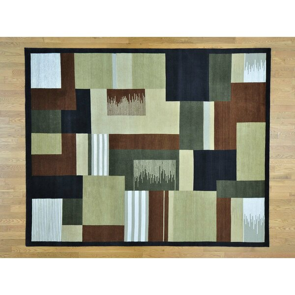 One-of-a-Kind Beverly Art Deco Hand-Knotted Wool/Silk Area Rug by Isabelline