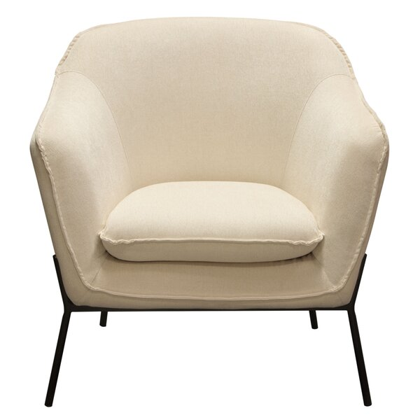 Desimone Armchair with Metal Leg by Diamond Sofa Diamond Sofa