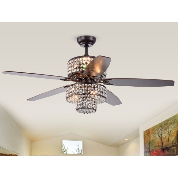 52 Gagnon 5 Blade Ceiling Fan with Remote by House of Hampton