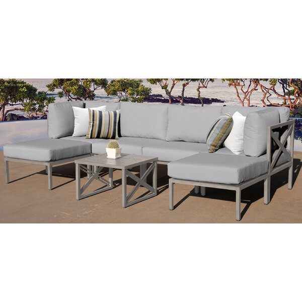 Carlisle 7 Piece Outdoor Sectional Set with Cushions by TK Classics