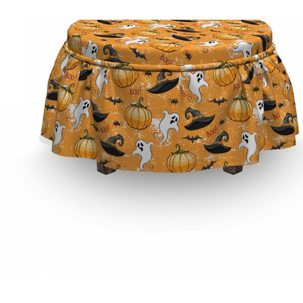 Ghost Pumpkin And Wizard Hat Ottoman Slipcover (Set Of 2) By East Urban Home